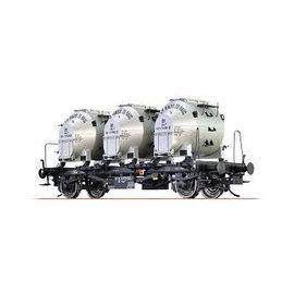 """Brawa Brawa 37158 Containerdraagwagen """"von Haus zu Häus"""" DB Ep. 3/4 Spoor 0"""