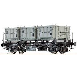 """Brawa Brawa 37163 Behältertragwagen """"von Haus zu Haus"""" offene Behälter DB Ep. 3/4 Spur 0"""