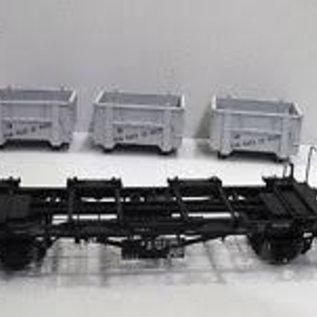 """Brawa Brawa 37164  Behältertragwagen """"von Haus zu Haus"""" offenen Behälter Spur 0 DB Ep. 3/4"""