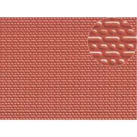 Slater's Plastikard Builder Sheet embossed with english bond brickwork in stone red, N-Gauge, plastic