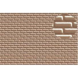 Slater's Plastikard Builder Sheet embossed with standard brickwork in grey, H0/OO-Gauge, plastic