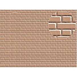 Slater's Plastikard Builder Sheet embossed with flemish bond brickwork in grey, H0/OO gauge, plastic