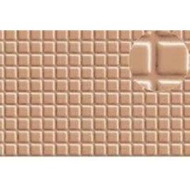 Slater's Plastikard Selbstbauplatte Fliesenmotiv in graubrauner Farbe. Maßstab H0/OO/N aus Kunststoff
