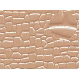 Slater's Plastikard Selbstbauplatte unregelmäßige Steinformen in gaubrauner Farbe. Maßstab N/H0/OO aus Kunststoff