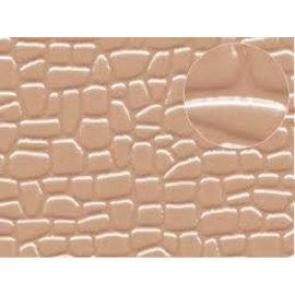 Slater's Plastikard Zelfbouwplaat Stenen in onregelmatige vormen, schaal N/H0/OO, Plastic