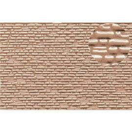 Slater's Plastikard Selbstbauplatte gemauerte Natursteine in graubrauner Farbe. Maßstab N  aus Kunststoff