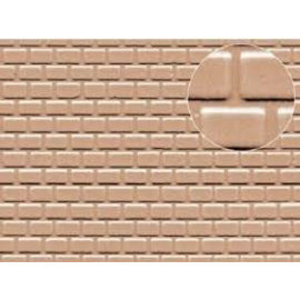 Slater's Plastikard Builder Sheet embossed with roofing tile motive in grey, H0/OO gauge, plastic