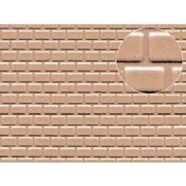 Slater's Plastikard SL426 Builder Sheet embossed with roofing tile motive in grey, H0/OO gauge, plastic