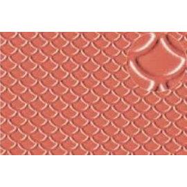 Slater's Plastikard Selbstbauplatte Dachbedeckung/Bieferschwanz in steinroter Farbe. Maßstab H0/OO aus Kunststoff