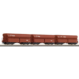 "Roco Roco 45978 NS set of 3 hopper wagon ""Kalk"" DC era IV (gauge H0)"