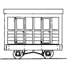 """Parkside Dundas Parkside Dundas DM04A """"2 Compartment Coach"""" (schaal OO9/HOe)"""