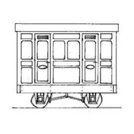 "Parkside Dundas Parkside Dundas DM76 ""1st Class Panelled 2 Comp. Coach"" (gauge OO9/HOe)"