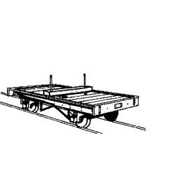 "Parkside Dundas Parkside Dundas DM09 ""Bolster Wagon (Pair)"" (gauge OO9/HOe)"