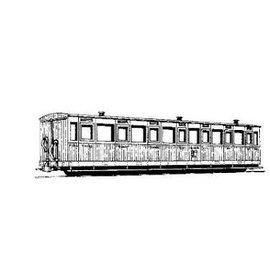 """Parkside Dundas Parkside Dundas DM10A """"Vale of Rheidol 3rd Class Bogie Coach no. 1-12"""" (schaal OO9/HOe)"""