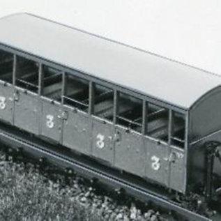 "Parkside Dundas Parkside Dundas DM22 ""Festiniog Railway Semi-Open Bogie Coaches No. : 37 & 38"" (Spur OO9/HOe)"