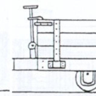 "Parkside Dundas Parkside Dundas DM33 ""Hudson 4 Wheel Wooden Bodied Three Plank Open Wagon"" (Spur OO9/HOe)"