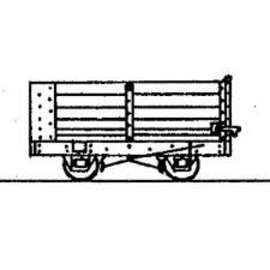 "Parkside Dundas Parkside Dundas DM36 ""4 Wheel End Door Open Wagon (Based on Vale of Reidol Wagon)"" (Spur OO9/HOe)"