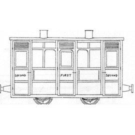 "Parkside Dundas Parkside Dundas DM44 ""Festiniog & Blaenau 4 Wheel 1st/2nd Class Coach"" (Spur OO9/HOe)"