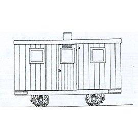"Parkside Dundas Parkside Dundas DM45 ""Festiniog Railway Quarryman's Coach"" (gauge OO9/HOe)"