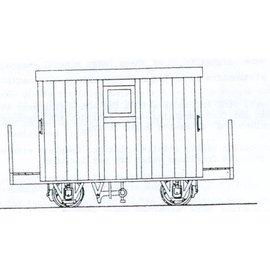 "Parkside Dundas Parkside Dundas DM48 ""Festiniog Railway 4 Wheel Brake Van 2 Balcony"" (gauge OO9/HOe)"