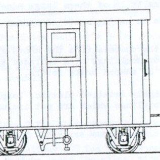 "Parkside Dundas Parkside Dundas DM48 ""Festiniog Railway 4 Wheel Brake Van 2 Balcony"" (Spur OO9/HOe)"