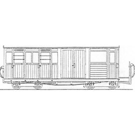 "Parkside Dundas Parkside Dundas DM59 ""Festiniog Railway Bogie Luggage, Brake 3rd Class Coach no. 10"" (gauge OO9/HOe)"