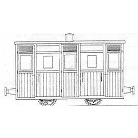 "Parkside Dundas Parkside Dundas DM62 ""Festiniog & Blaenau (Style) Planked 3rd Class Coach"" (Spur OO9/HOe)"