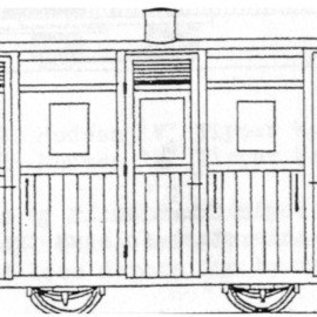 "Parkside Dundas Parkside Dundas DM62 ""Festiniog & Blaenau (Style) Planked 3rd Class Coach"" (gauge OO9/HOe)"