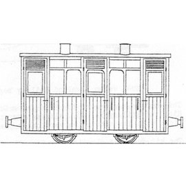 "Parkside Dundas Parkside Dundas DM63 ""Festiniog & Blaenau (Style) Planked 1st/2nd Class Coach"" (gauge OO9/HOe)"