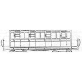 """Parkside Dundas Parkside Dundas DM64 """"Festiniog (Style) 4 Compartment Panelled Composite Bogie Coach"""" (gauge OO9/HOe)"""