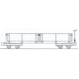 """Parkside Dundas Parkside Dundas DM65 """"Hudson Steel Dropside Bogie Open Wagon"""" (Spur OO9/HOe)"""