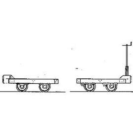 "Parkside Dundas Parkside Dundas DM66 ""Hudson 1950's Wagon Bogies"" (Spur OO9/HOe)"