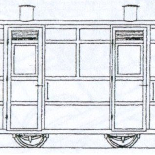 "Parkside Dundas Parkside Dundas DM67 ""Victorian Two Compartment Panelled 4 Wheel Coach"" (Spur OO9/HOe)"