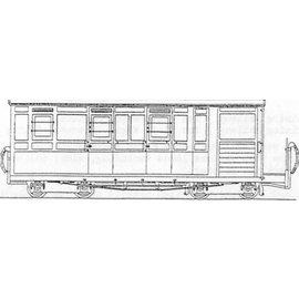 """Parkside Dundas Parkside Dundas DM69 """"Brake Third Observation Bogie Coach"""" (gauge OO9/HOe)"""