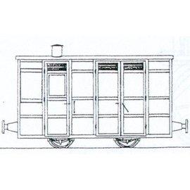 "Parkside Dundas Parkside Dundas DM74 ""Victorian 4 Wheel Passenger Guards Van"" (gauge OO9/HOe)"