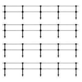 Ratio Ratio Trackside Series 144, leuning, hekwerk dubbel (schaal H0/00)