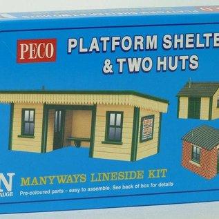 Peco Peco NB16 Bahnsteig Überdachung + zwei Scheunen (schaal N)