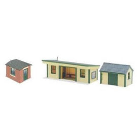 Peco Peco NB16 Platform Shelter + Two Huts(Gauge N)