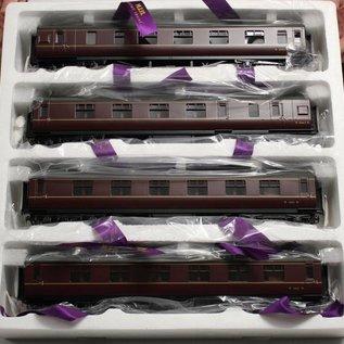 "MTH MTH 22-60050 BR ""4-Car LMS Standard Passenger Set, Maroon""  (schaal 0)"