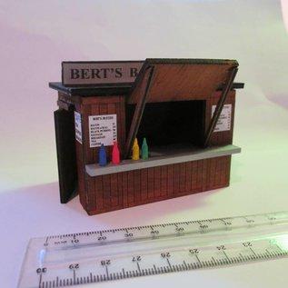 """Ancorton Models Snackbar/Kiosk """"oude stijl"""" (Schaal 0, lasercut)"""