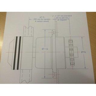 """Jefa / J-BS25-11 / BS25 Schott-Steuereinheit mit 11 Zähnen 5/8"""" Kettenrad"""