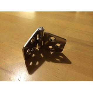 2 Stück Scharnier gekröpft Niro VA 4 Edelstahl 75 x 40 mm Trapezform