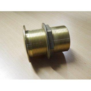 Borddurchlaß Messing 1 1/2 Zoll Gewinde 70 mm / Boot / garten