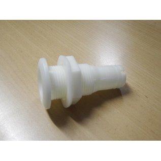 Borddurchlaß Kunstoff 1 Zoll Gewinde 40 mm / Boot / Garten