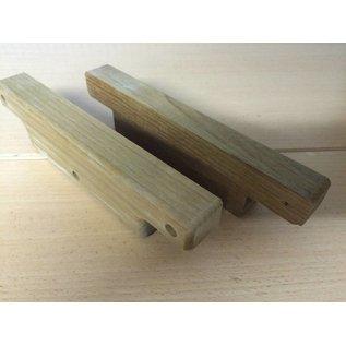 1 Paar Teak Holz Halterung für Stufe Boot Kasko Niedergang Segel