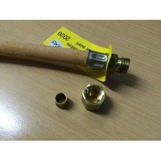 Gasschlauch 400 mm Schneidringverschraubung x Rohrstutzen
