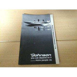 Außenborder Johnson 70 PS Bedienungsanleitung Deutsch