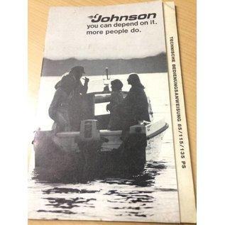 Außenborder Johnson 85/115/135 PS Bedienungsanleitung Deutsch