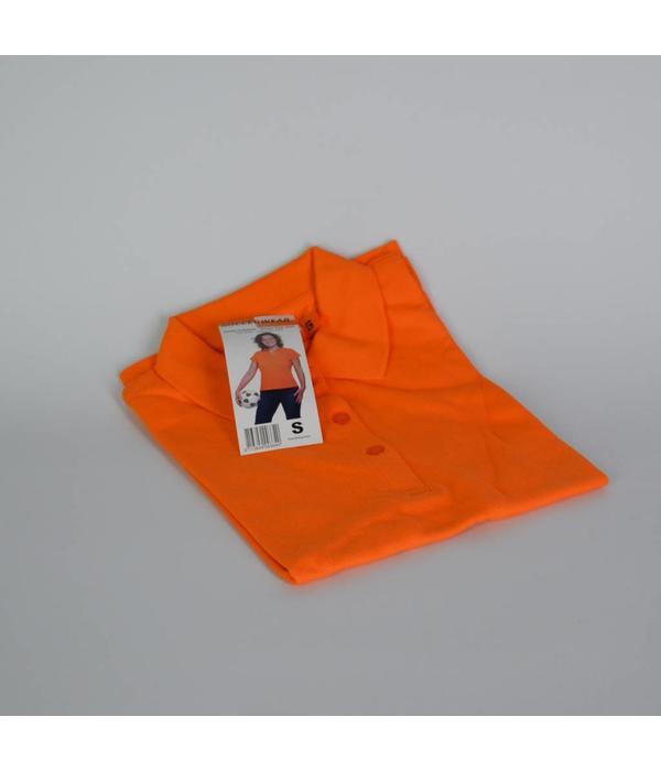 Tientje of minder Oranje dames poloshirt (S)
