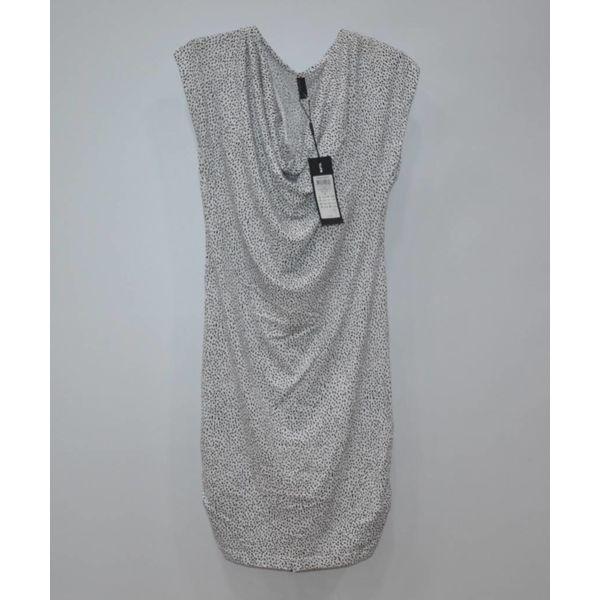 Wit gestippelde jurkje NIEUW (S)
